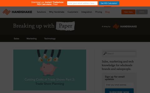 Screenshot of Blog handshake.com - Wholesale & B2B Best Practices   Handshake Blog - captured Dec. 12, 2015