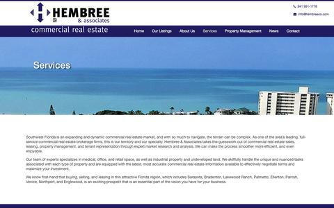 Screenshot of Services Page hembreeco.com - Services - Hembree & Associates, Inc. - Hembree & Associates, Inc. - captured Nov. 7, 2016