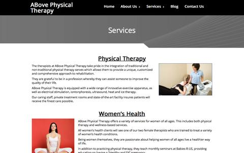 Screenshot of Services Page abovept.com - Above Physical Therapy Services | Suwanee Ga - captured Oct. 6, 2017