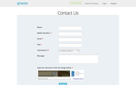 Contact us - Practo