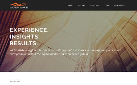 Screenshot of Home Page widerwake.net - Wider Wake | Wider Wake - captured Jan. 22, 2015