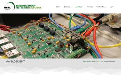 Screenshot of Team Page retc-ca.com - Management - RENEWABLE ENERGY TEST CENTER - captured Oct. 19, 2018