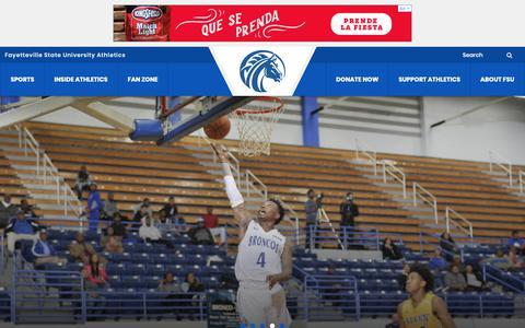 Screenshot of Home Page fsubroncos.com - fsubroncos.com - Fayetteville State University Official Athletic Site - captured Nov. 29, 2018