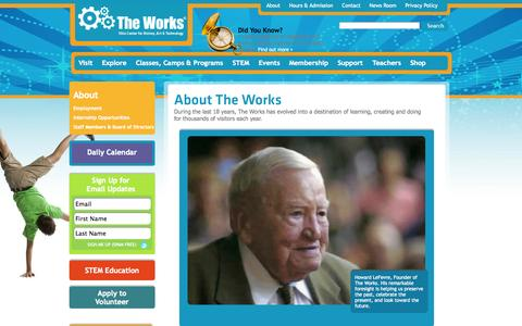 Screenshot of About Page attheworks.org - Mission The Works - captured Oct. 7, 2014