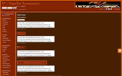 Screenshot of Press Page tabletoptournaments.net - Media Data | T³ - TableTop Tournaments - captured June 4, 2016