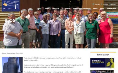 Screenshot of Blog energy4all.co.uk - Blog - Ethical Investment, Community Renewable Energy Shares - captured Sept. 28, 2018