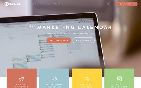 Screenshot of Home Page coschedule.com - CoSchedule - The Best Content Marketing Editorial Calendar Software - captured Dec. 20, 2016