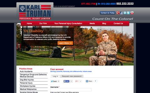 Screenshot of Login Page trumanlaw.com - User account - captured Oct. 6, 2014
