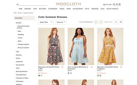 Cute Summer Dresses | ModCloth