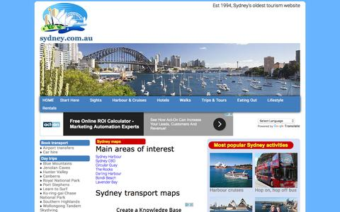 Screenshot of Maps & Directions Page sydney.com.au - Maps and timetables to help using the Sydney transport network - captured Nov. 6, 2016