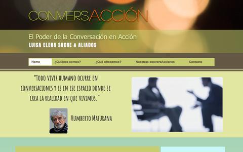 Screenshot of Home Page conversaccion.com - conversaccion - captured Aug. 18, 2017