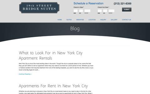 Screenshot of Blog bridgesuites.com - Blog - New York Apartment Rentals | Bridge SuitesBridge Suites - captured June 20, 2016