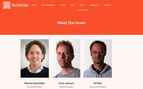 Screenshot of Team Page techtribe.nl - Meet the team - TechTribe - captured Sept. 24, 2018