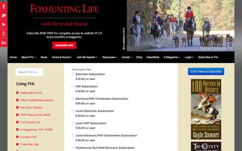 Screenshot of Signup Page foxhuntinglife.com - Sign up - captured June 6, 2017