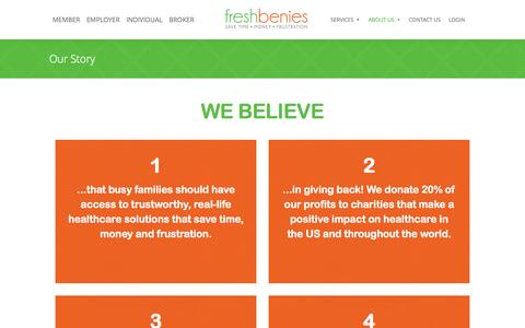 Screenshot of About Page freshbenies.com - Health Advocacy | freshbenies - captured Nov. 18, 2015