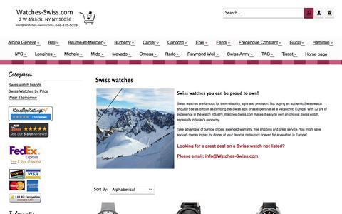 Screenshot of Home Page watches-swiss.com - Swiss watches, buy Swiss watches, Swiss watch sale, real Swiss watch - captured June 15, 2016