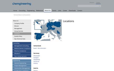 Screenshot of Locations Page chemgineering.com - Locations   Chemgineering Holding AG - captured Sept. 27, 2018