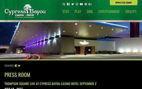 Screenshot of Press Page cypressbayou.com - News - captured Sept. 19, 2017