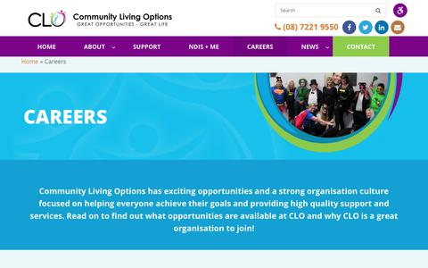 Screenshot of Jobs Page clo.org.au - Support Worker Adelaide | Support Worker Jobs Adelaide - captured Sept. 29, 2018