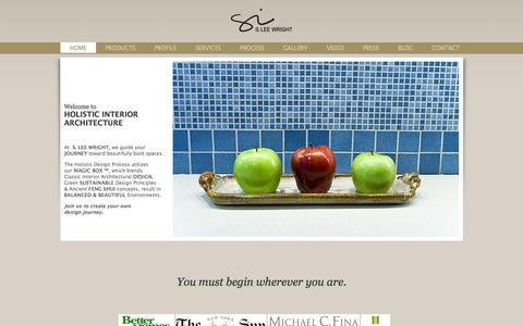 Screenshot of Home Page sleewright.com - New York Interior Designer | Interior Architect | Feng Shui Consultant - captured Oct. 3, 2014