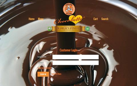 Screenshot of Login Page dolceviteforeveryoung.com - Account – Dolce Vite Chocolatto World's Best Thick Dark Italian Hot Chocolate! No GMOs! - captured Oct. 5, 2014