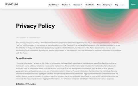 Privacy Policy | Leanplum