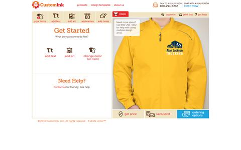 Screenshot of customink.com - Design Lab - Create Your Own T-shirts Online - captured Aug. 19, 2016