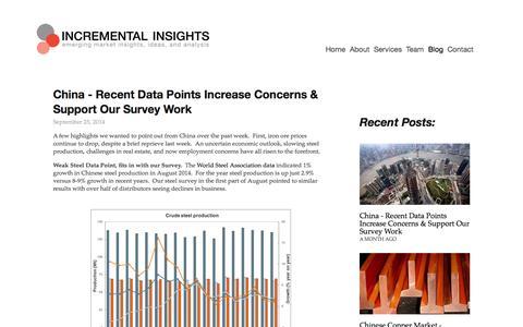 Screenshot of Blog incrementalinsights.com - Blog — Incremental Insights - captured Nov. 2, 2014