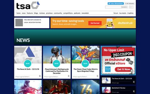 Screenshot of Press Page thesixthaxis.com - Video Gaming News & Reviews at TheSixthAxis - captured Nov. 13, 2018