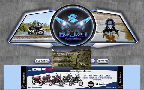 Screenshot of Home Page club-bajaj.com - CLUB BAJAJ ARGENTINA - captured Sept. 17, 2015