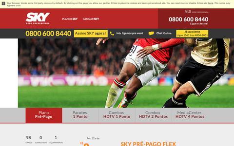 Screenshot of Home Page assineasky.com.br - Assine SKY HDTV | A melhor TV por assinatura do Brasil - captured Oct. 28, 2017