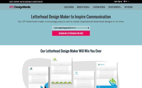 Easy to Use DIY Letterhead Design Maker by DesignMantic