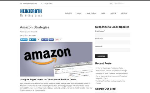 Screenshot of Blog heinzeroth.com - Amazon Strategies - captured Dec. 20, 2016