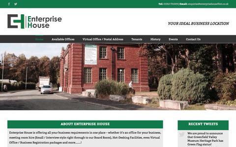 Screenshot of Home Page enterprisehouseflint.co.uk - Enterprise House – Serviced Offices Flintshire - captured Aug. 9, 2017