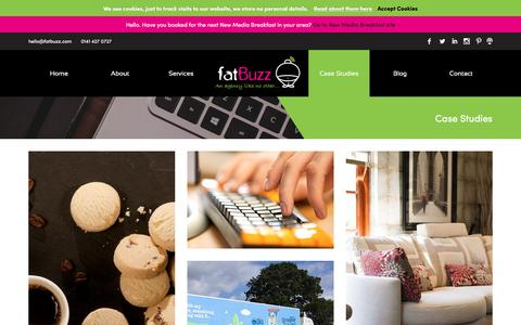 Screenshot of Case Studies Page fatbuzz.com - Case Studies Archive - fatBuzz - captured Dec. 8, 2015