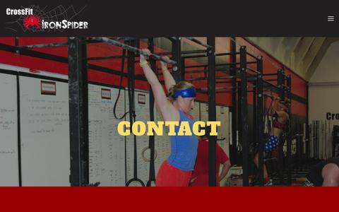 Screenshot of Contact Page crossfitironspider.com - Contact — CrossFit Iron Spider - captured July 17, 2016