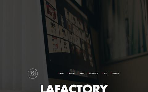 Screenshot of Site Map Page lafactory.it - Sitemap - LaFactory - captured Oct. 27, 2014