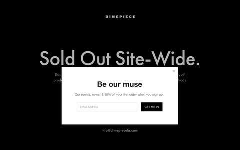 Screenshot of Home Page dimepiecela.com - Encouragement Over Competition - captured Oct. 12, 2017