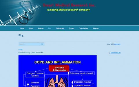 Screenshot of Blog smartmedicalresearch.com - Blog - captured April 20, 2016