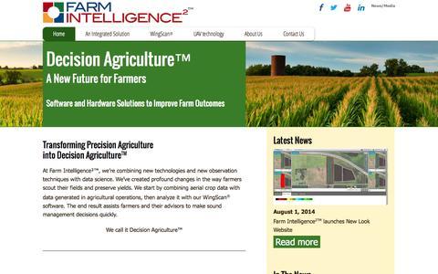 Screenshot of Home Page farmintelligence.com - Home   Farm Intelligence² - captured Sept. 30, 2014
