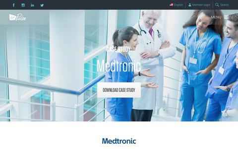 Screenshot of Case Studies Page virginpulse.com - Medtronic   Virgin Pulse - captured July 31, 2018