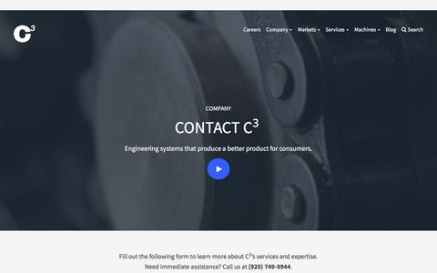 Screenshot of Contact Page c3ingenuity.com - Contact C3 Corporation for Advanced Manufacturing - captured July 10, 2017