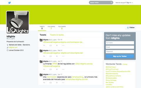 Screenshot of Twitter Page twitter.com - ldlights (@LD_Lights) | Twitter - captured Oct. 22, 2014
