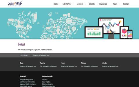 Screenshot of Press Page siteatweb.com - Siteatweb - Latest news on Social Media in your business - captured Oct. 7, 2014