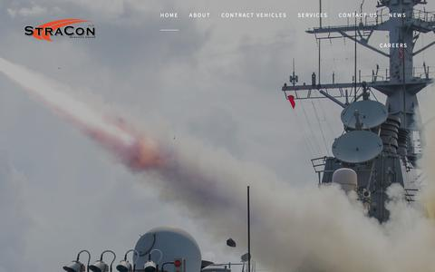 Screenshot of Home Page stracongroup.com - StraCon - Enhancing Operational Capability - Stracon - captured Feb. 10, 2018