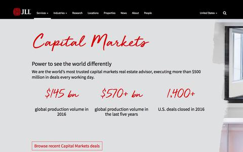 Capital Markets | JLL