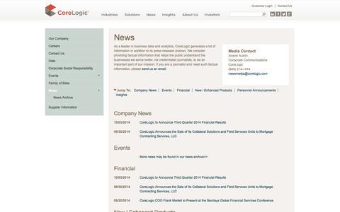 CoreLogic | News - Press Releases