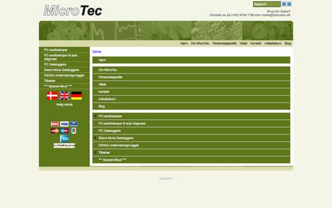 Screenshot of Site Map Page Menu Page microtec.dk - Map - captured Oct. 27, 2014