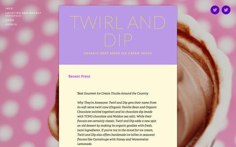 Screenshot of Press Page twirlanddip.com - Press — Twirl and Dip - captured Oct. 6, 2014