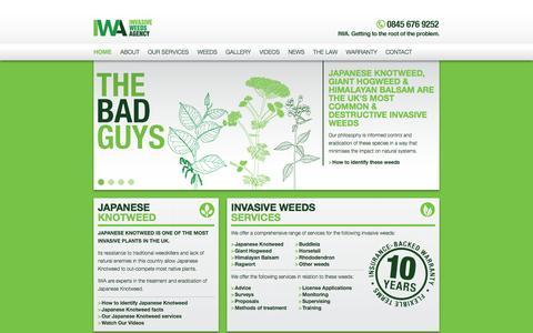 Screenshot of Home Page japaneseknotweed.com - Invasive Weeds Agency Ltd. - captured Oct. 6, 2014